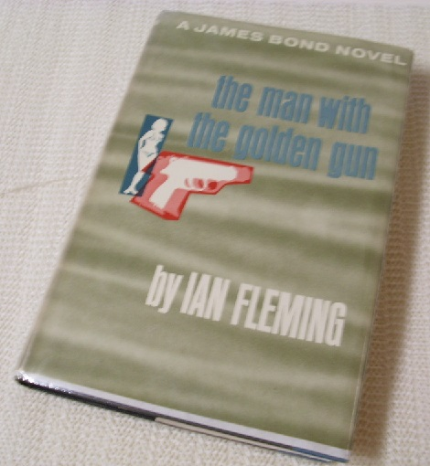 Dust jacket cover forThe Man with the Golden Gun