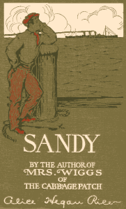 Cover art shows Sandy leaning on a post, looking out on a ship heading to America.