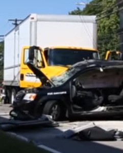 car hit by tractor-trailer truck