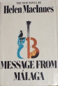 Flamenco music, US flag and communist hammer-and-sickle are incorporated into art on dust jacket of Message from Malaga