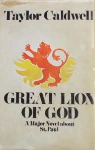 dust jacket of Great Lion of God features lion rampant
